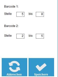 Teilvergleiche Barcodes