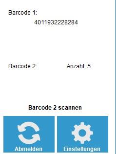 Anzahl Barcodes